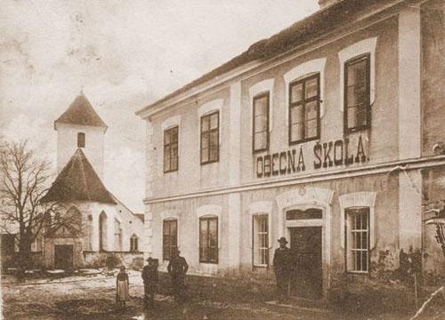Historie Černic - obecná škola / Černice history - municipal school