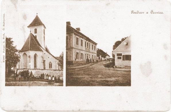 Historie Černic - pohlednice / Černice history - postcard