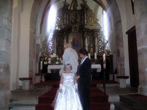 Historie Černic - interiér kostela sv. Máří Magdalény / Černice history - interior of the church of St. Mary Magdalen