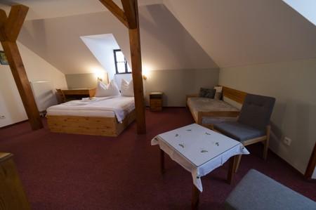 74 - Hotel Černice - ubytování: - Pokoje v 2. patře